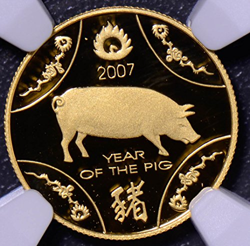 2007 AU NG0274 Australia 10 Dollar NGC PF 69 Ultra Cameo year of pig agw .1 oz of pure gold DE PO-01 NGC - Gold 2007 Pig
