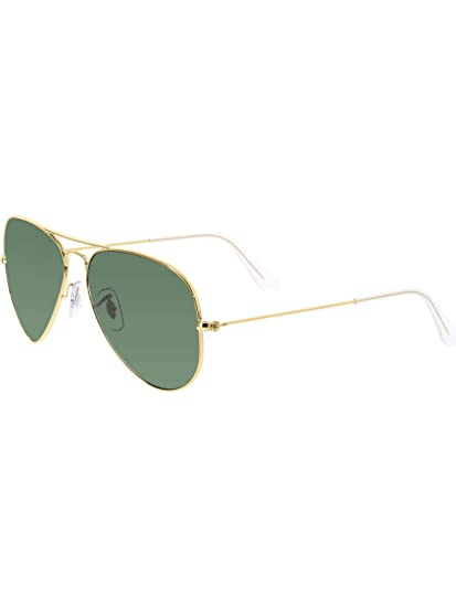6c4a913dffee3c Amazon.com  Ray-Ban RB3025 Aviator Silver Frame   Crystal Grey Gradient Lens   Clothing