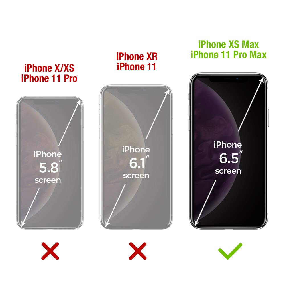 FlexGear Screen Protector for iPhone 11 Pro Max//iPhone Xs MAX Full Coverage Clear Tempered Glass 3-Pack