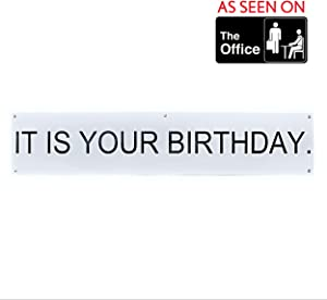 """It is Your Birthday Banner The Office – The Office Show Decorations TV Show – """"It is Your Birthday"""" The Office Birthday Banner 6'x15"""