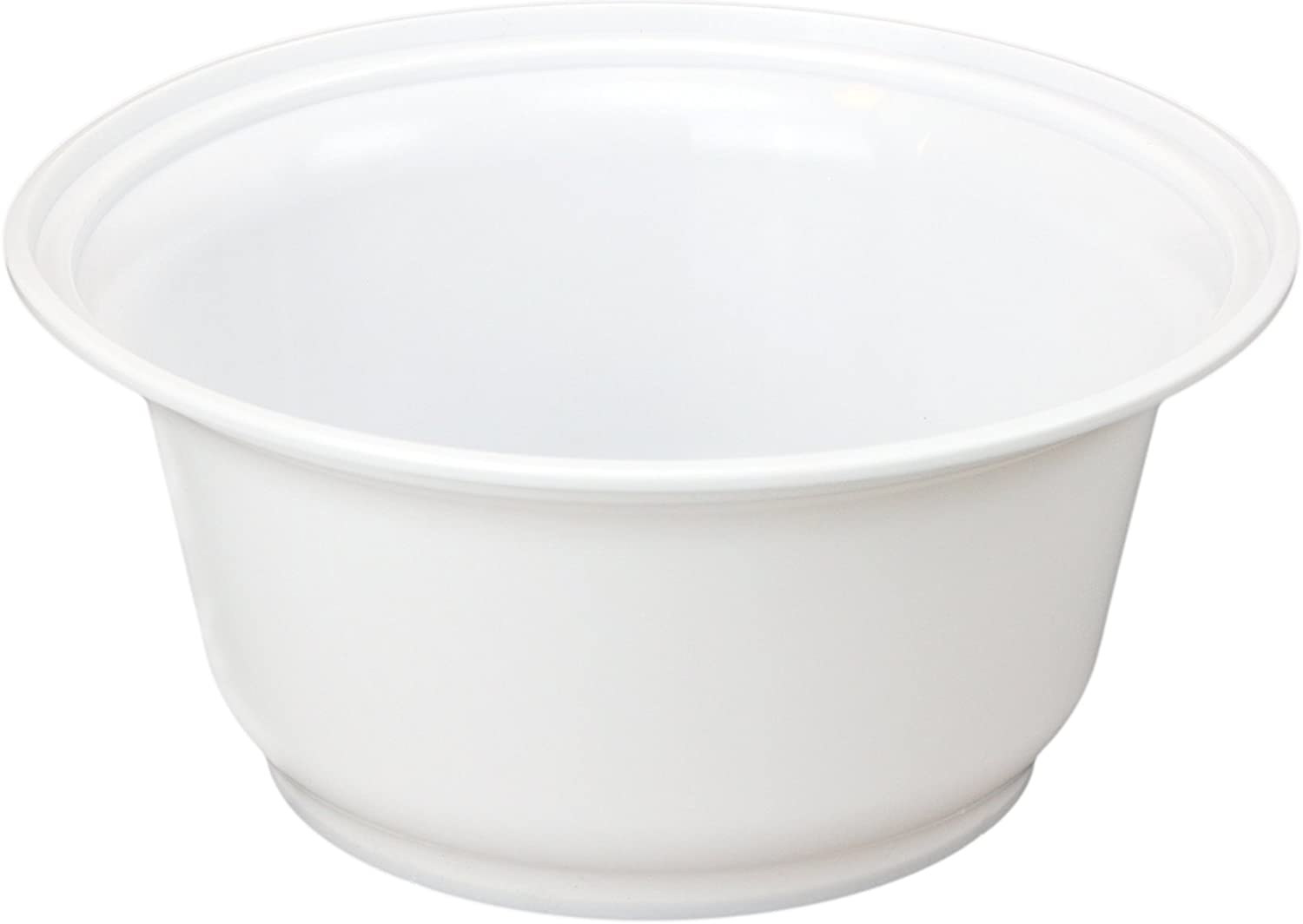 Microwavable 36oz White Plastic Bowls w/Lids, Rigid Recyclable Containers Food Storage for Hot or Cold Foods (50 count)