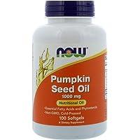Now Foods Pumpkin Oil 1000mg Soft-gels, 100-Count