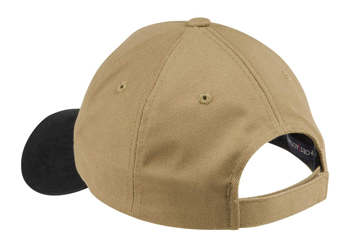 5a00562769926f Custom Hat, Embroidered. Your Own Text. Adjustable Back. Curved Bill Many  Colors (2 Tone Brushed Twill Khaki Hat/Black Bill) at Amazon Men's Clothing  store: