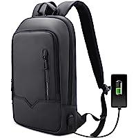 Mochila para ordenador portátil, ligera, delgada, impermeable, con puerto de carga USB, bolsa compacta, para negocios…