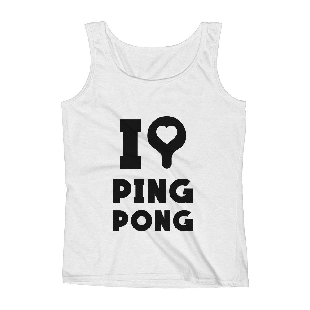 Mad Over Shirts I Love Ping Pong Sport Players Unisex Premium Tank Top