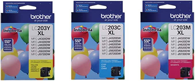 Amazon.com: Brother LC-203 High Yield Cartucho de tinta Set ...