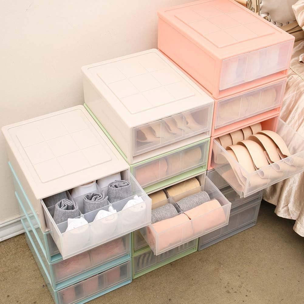 Ropa Interior Bragas Caja de SujetadorLight Pink-Small Cocina Organizador de Armario apilable Reutilizable caj/ón de Almacenamiento para Dormitorio KDDD cajonera plastico Organizador de Armario