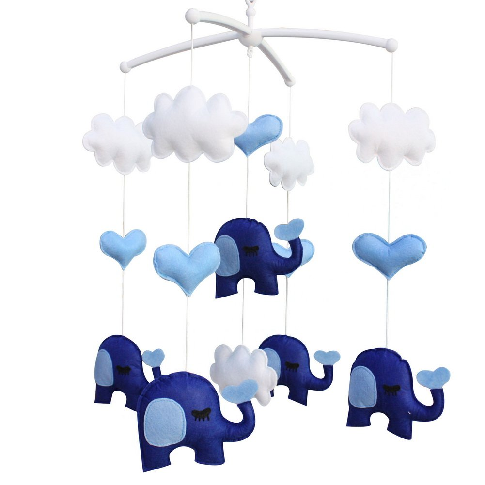 Infant Crib Musical Mobile, [Elephant] Boys/Girls Non-Woven Fabric Toys Blancho Bedding