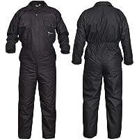 Size: 3X-Large Portwest S998BKRXXXL Euro Work Cotton Coverall Regular Black