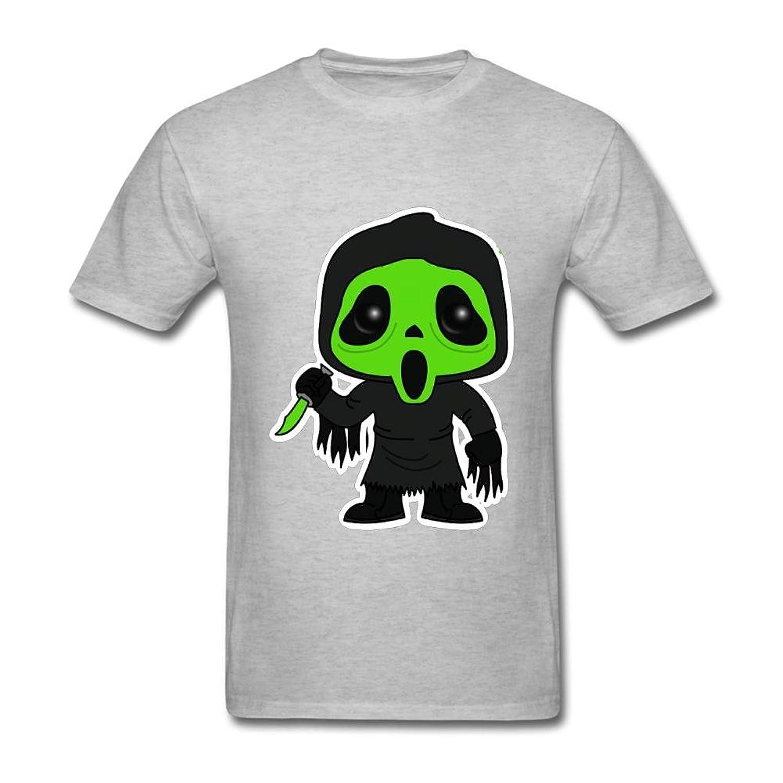 FQYPMC Man 100% Cotton Cute Ghostface Tshirts