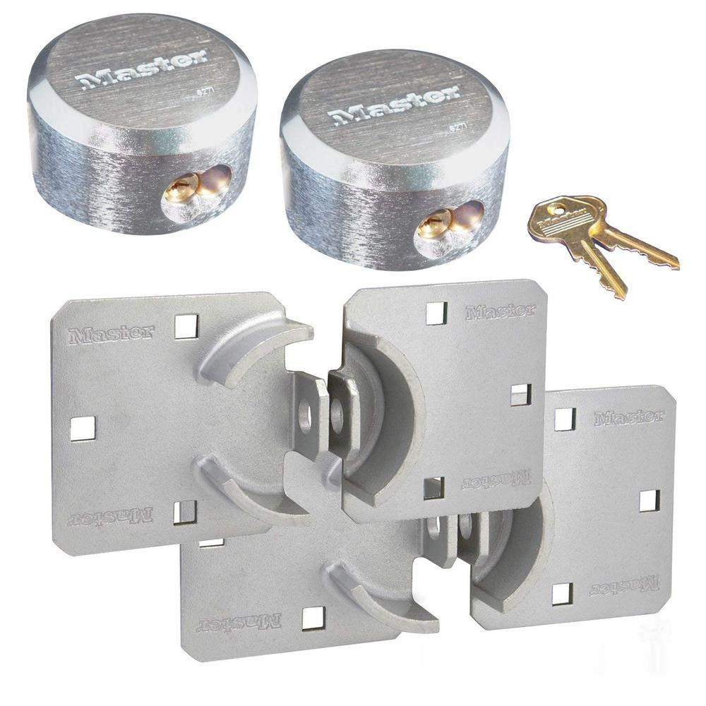 Master Lock Hasp / Hidden Shackle Keyed Alike Padlocks 770 - 6271KA-2 by Master Lock