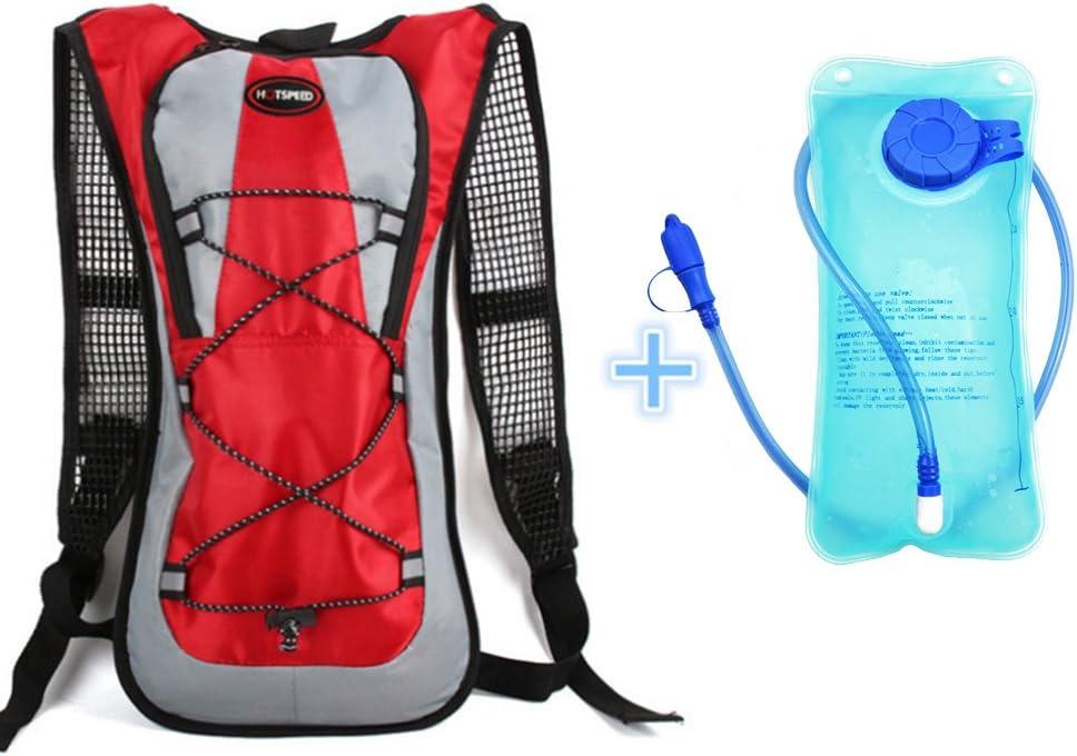 Monvecle - Mochila de hidratación con bolsa de agua de 2 litros, ideal para correr, ciclismo, senderismo, escalada y esquí