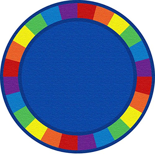 Kid Carpet FE82127A Colors Full Circle Round Nylon Area Rug, 6', Multicolored