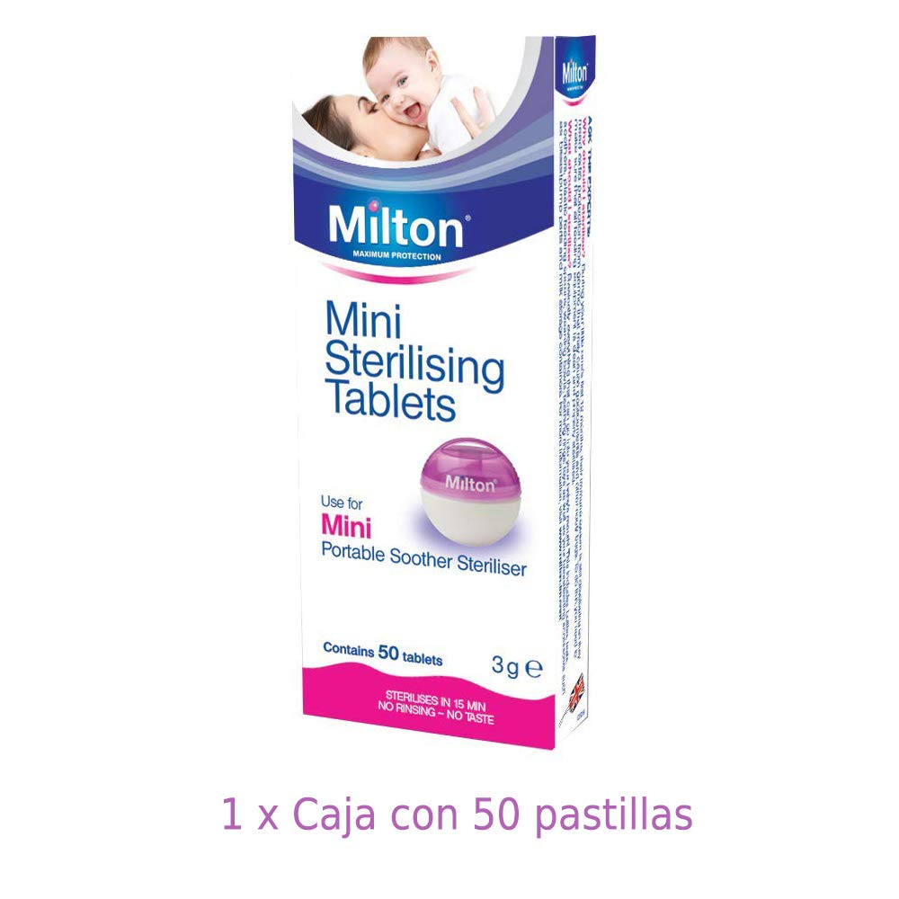 Pastillas Esterilizadoras Mini Milton, 50 unidades - Pastillas para esterilizar y desinfectar la Copa Menstrual