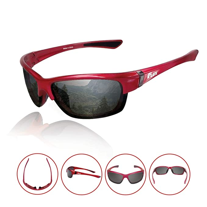 a28ed35c501 Flux Polarized Sports Sunglasses W  Anti-Slip Function and Light Frame -  CA155
