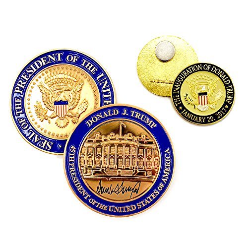 Trump Coin - US President (45th) Donald J. Trump, White House POTUS Signed Challenge Coin 3D ()