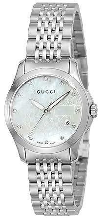 34f394b12ba7 [グッチ]GUCCI 腕時計 Gタイムレス ホワイトパール文字盤 YA126535 レディース 【並行輸入