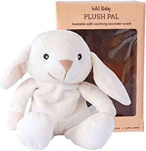 "WILD BABY Microwavable Plush Pal - Cozy Heatable Weighted Stuffed Animal with Aromatherapy Lavender Scent, 10"" Bunny Rabbit"