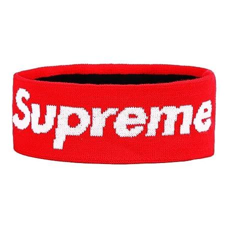 wapour supreme headband,supreme Diadema deportiva, de Pelo Antideslizante Banda de Cabeza Atlética de Algodón de Absorción de Humedad para Deportes (Rojo): ...