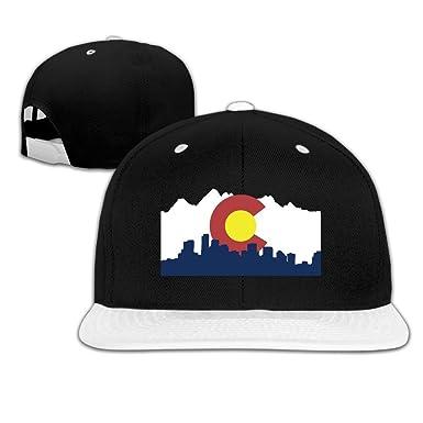 551f205f449 ... discount colorado denver skyline hip hop snapback hats one size white  unisex dd79b 892d8