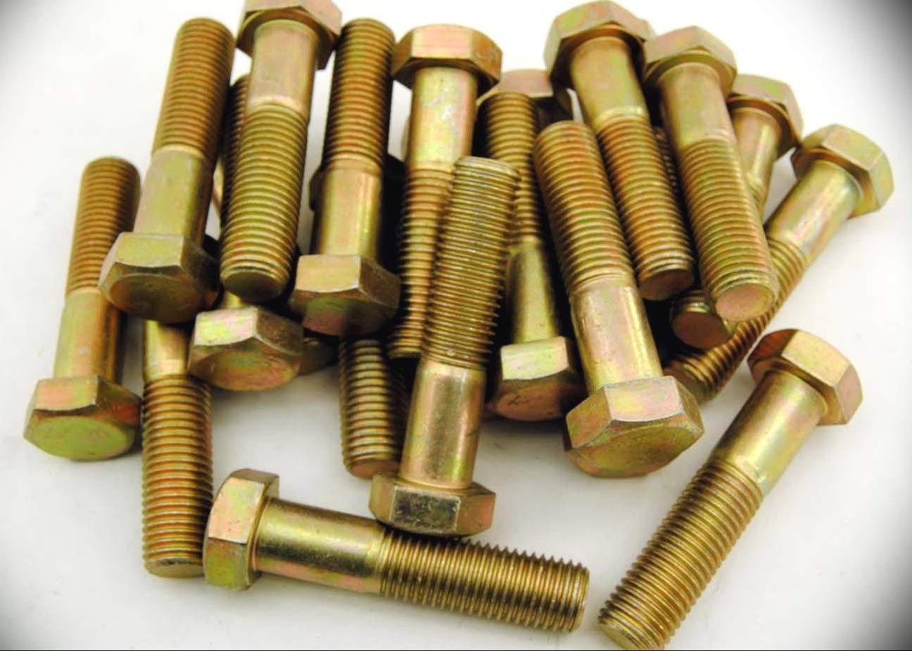 22 PCs Metric Hex Head M16-2 0 x 70 Screws Bolts 16mm Yellow