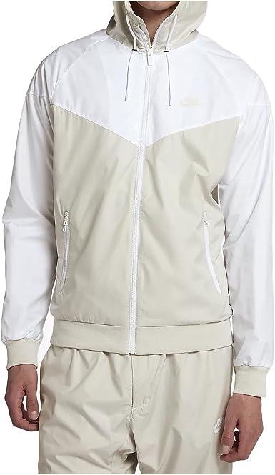 finalizando tugurio Anuncio  Amazon.com: Nike Mens Windrunner Hooded Track Jacket Light Bone/White  727324-073 Size 2X-Large: Clothing