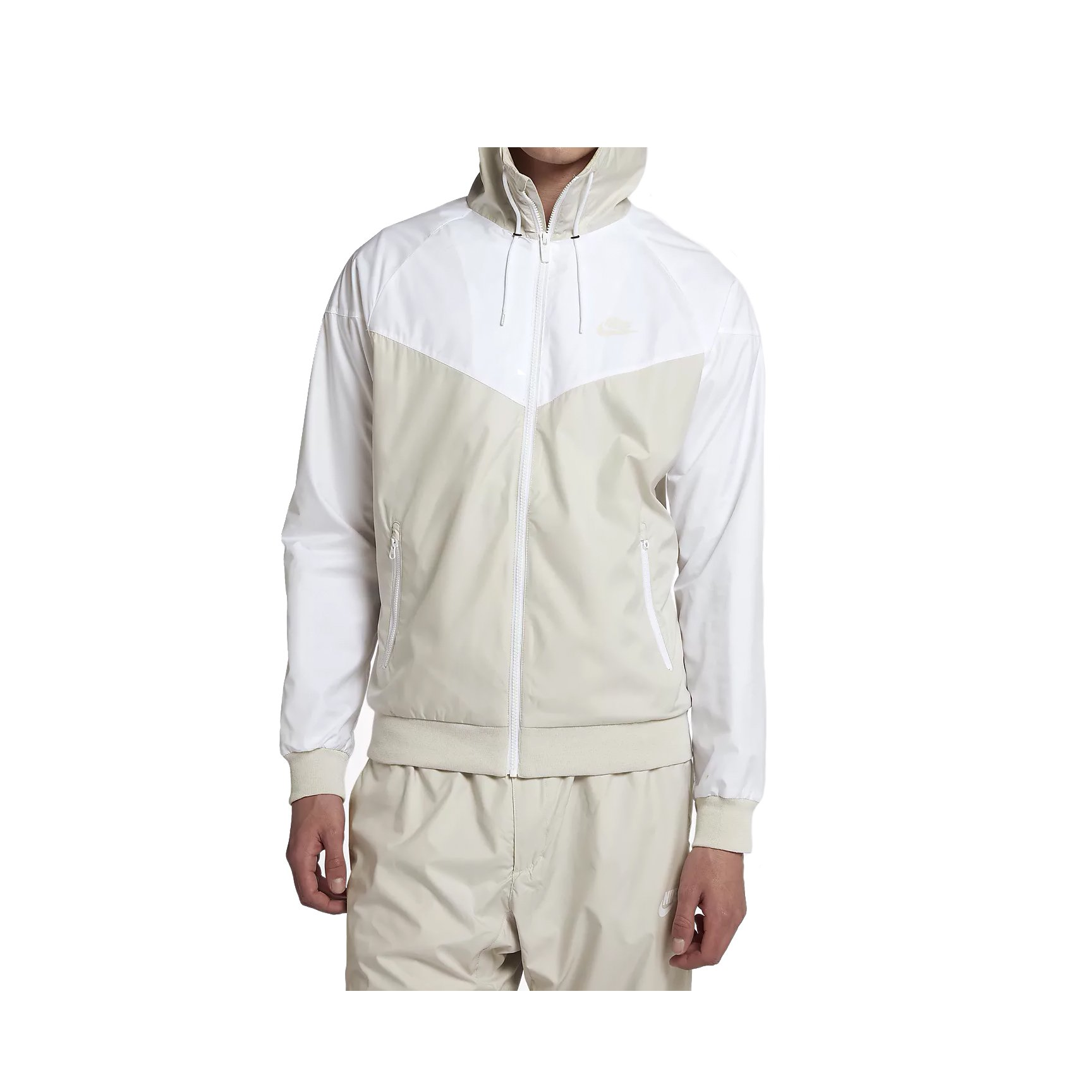 465c55b80838 Galleon - NIKE Mens Windrunner Hooded Track Jacket Light Bone White  727324-073 Size Large