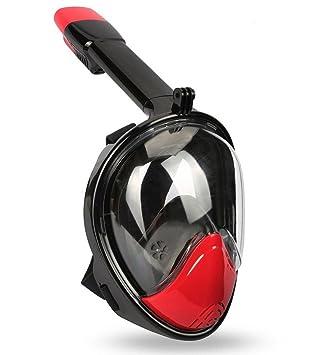 Nzl Máscara De Buceo Submarina Snorkel Set Máscara De Respiración Respiratoria De Rostro Completo Con Tecnología