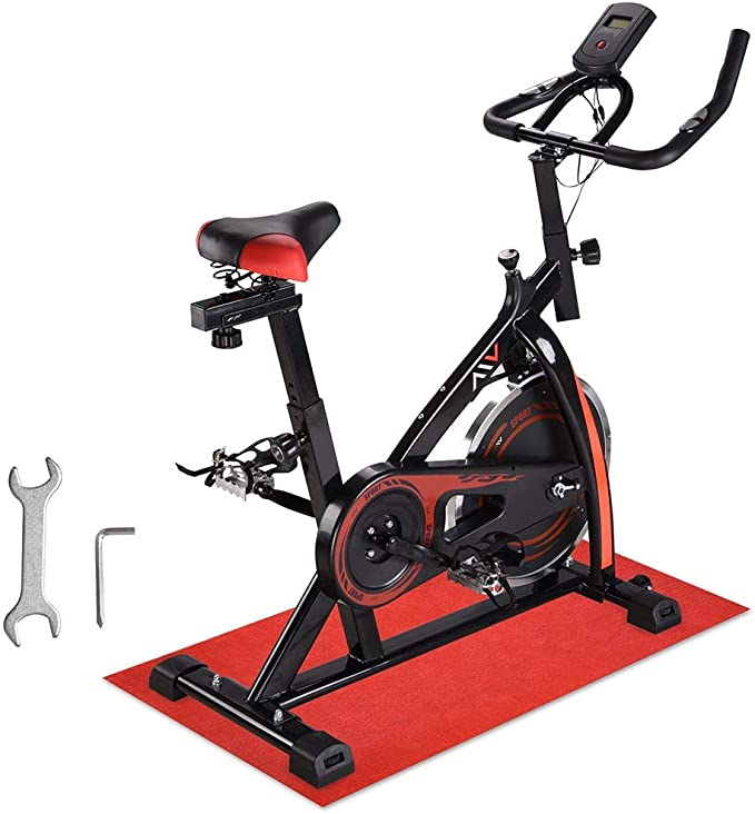 Details about  /Pro Stationary Exercise Bike Bicycle Trainer Fitness Cardio Cycling Training Gym