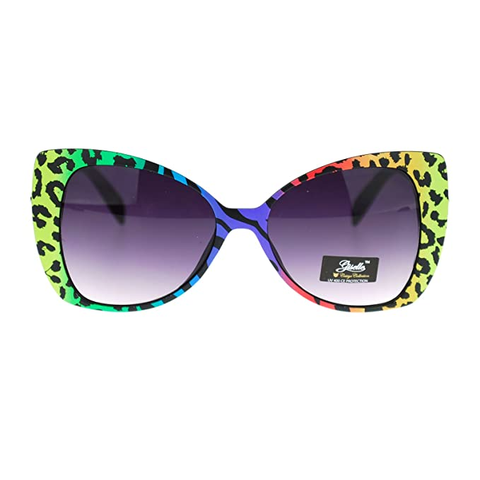 Amazon.com: Giselle Color Leopard Animal Print Cat Eye ...