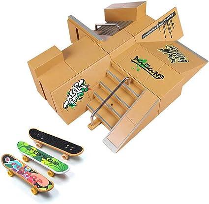 Hometall 5PCS Skate Park Kit Ramp Parts for Finger Skateboard Skate Park Kit