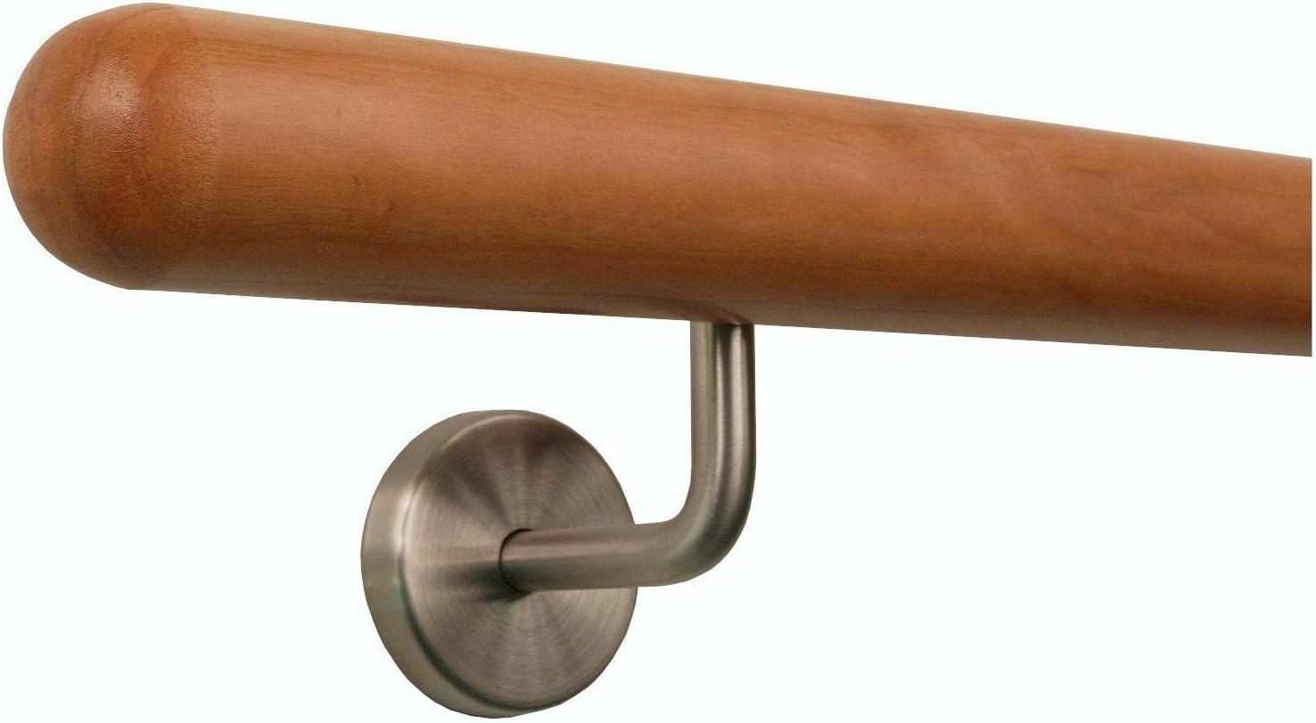 Kirschbaum Handlauf Treppen Gel/änder Handl/äufer 30-500 cm aus einem St/ück mit Halter St/ützen Tr/äger und bearbeiteten Enden