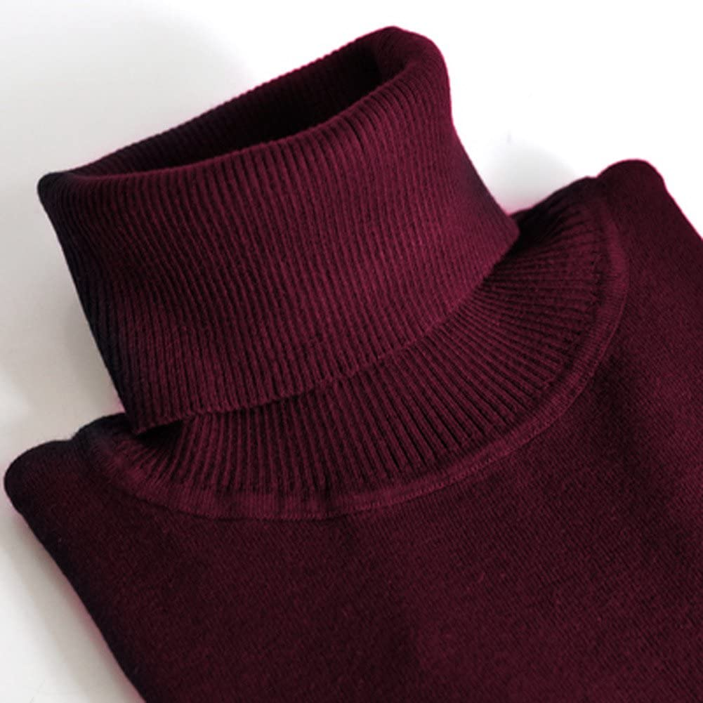 Romacci Damen Pullover Strickwaren Schildkr/öte Hals Langarm Ribbed Strick Pullover Tops