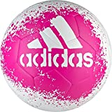 adidas Performance X Glider II Soccer Ball, White/Shock Pink/Blue, Size 3