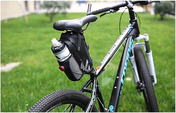 TOGEDI Bolsa de sillín para Bicicleta con luz Trasera, Impermeable, para Bicicleta, Ciclismo, Jaula de Poliuretano, Bolsa de Correos para Bicicleta de Carretera MTB, TOGEDISBBU, Azul: Amazon.es: Deportes y aire libre