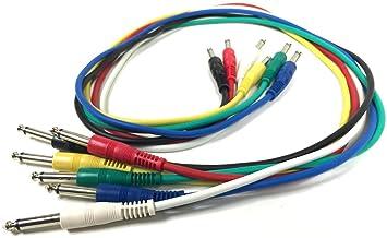 6 Patch Cable Jack de 6,3 100 cm para Guitarra Eléctrica, efecto dispositivos amplificador y más: Amazon.es: Instrumentos musicales