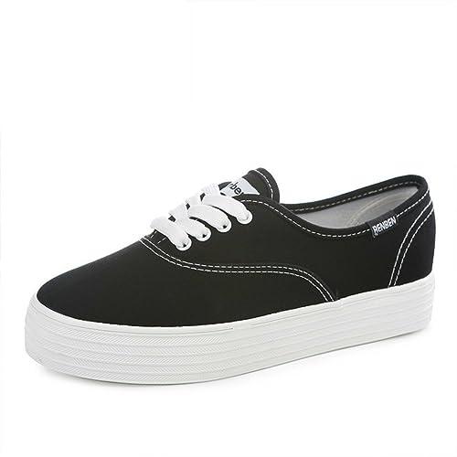 Moda de zapatos de suela gruesa plataforma/Zapatos de moda/Zapatos blancos-C Longitud del pie=24.8CM(9.8Inch) 3Mf08Y
