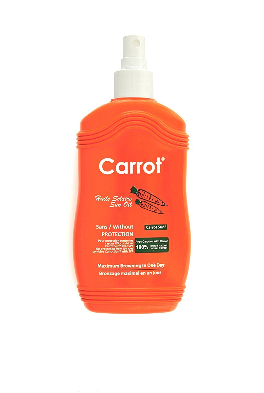 Carrot Sun® Tan Accelerator Spray Oil with Carrot Oil, L-Tyrosine, & Henna for a GOLDEN tan-FAST! 200ml Sarah Trading