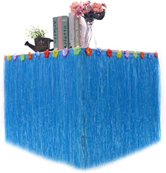 Party Tulle Table Skirt Green 5 Colors 276x75cm Colorful Flower Summer Hawaiian Party Table Skirt Cover Beach Garden Parties Decor
