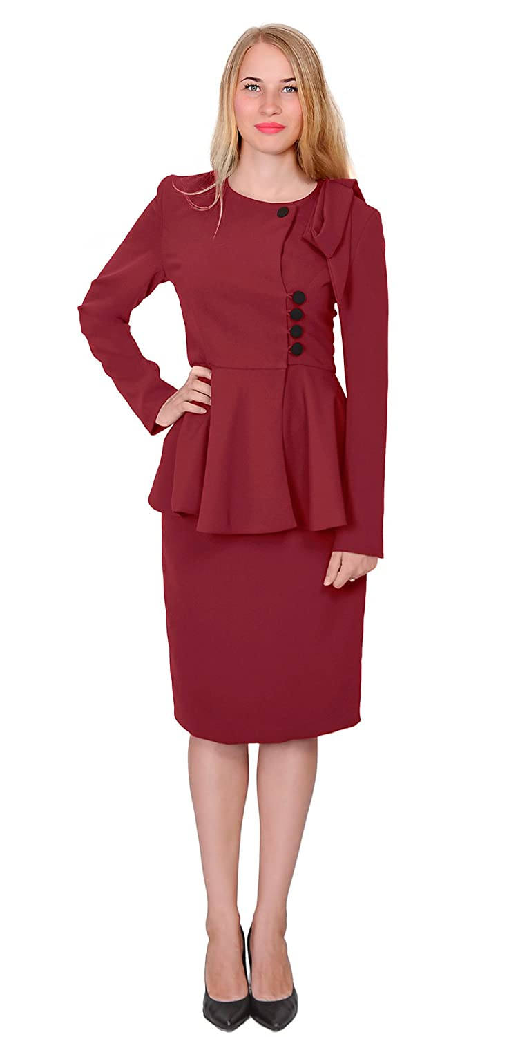 1940s Style Skirts- High Waist Vintage Skirts Marycrafts Womens Classy Vintage Peplum Business Church Skirt Suit Dress $67.90 AT vintagedancer.com