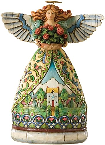 Enesco Jim Shore Heartwood Creek 4-Seasons Mini Angel with Summer Scene Figurine, 4-1 2-Inch