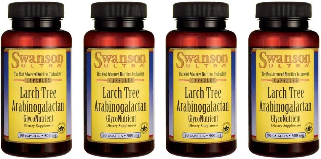 Swanson Larch Tree Arabinogalactan 500 mg 90 Caps 4 Pack