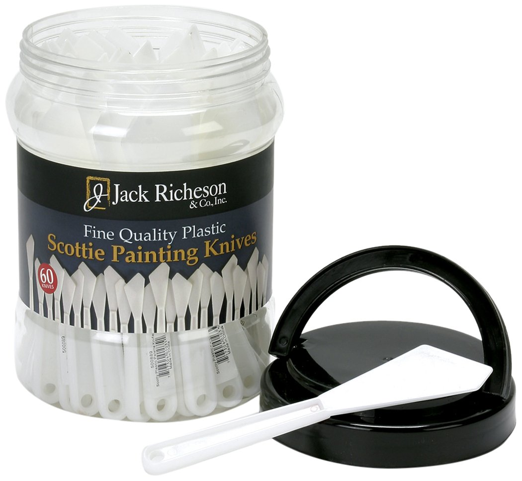 Jack Richeson Canister of 60 Plastic Knife