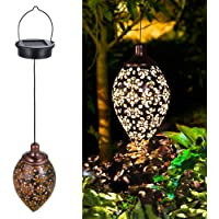 Hanging Solar Lights Tomshine LED Garden Lights Metal Lamp Waterproof for Outdoor Hanging Decor