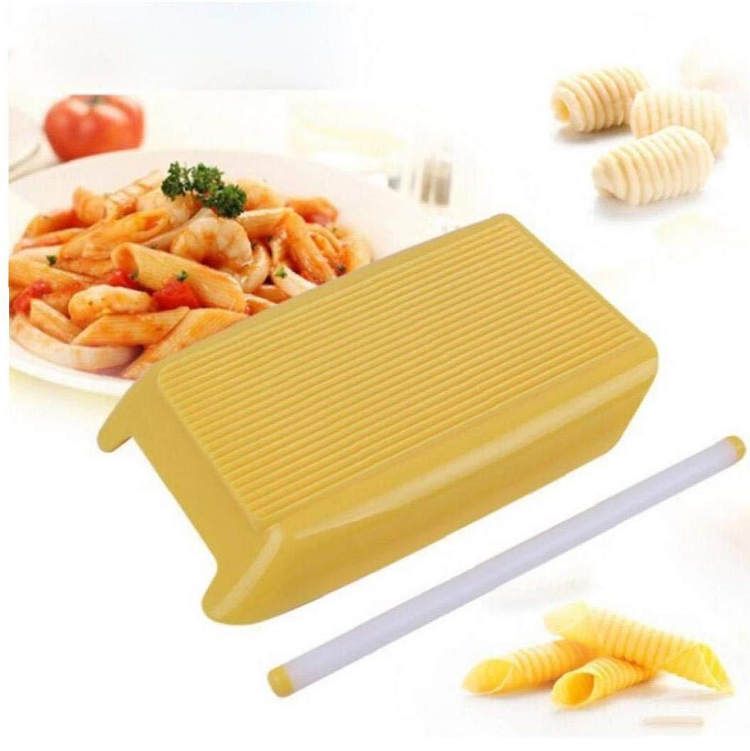 Angoter Pl/ástico M/áquina de Pasta Junta macarrones Espaguetis Pasta Gnocchi Fabricante de moldes Suplemento Cortador de amasar Herramienta de la Cocina los Alimentos