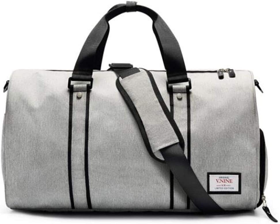 Independent Shoe Warehouse Waterproof Travel Bag Large-Capacity Sports Bag Size: 472427cm Safety Mens and Womens Cylinder Fitness Bag Color : Light Gray Hongyuantongxun Sports Bag
