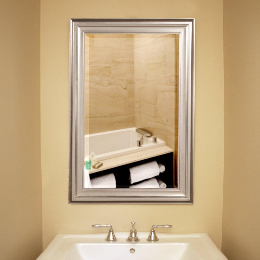 Amazon.com: Howard Elliott George Rectangular Mirror, Brushed Nickel ...