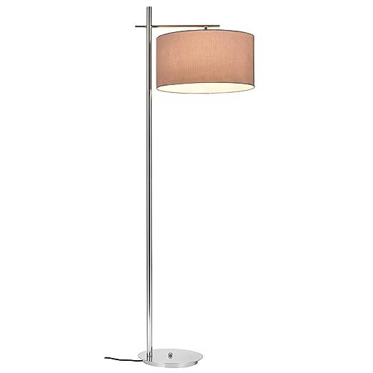 Lux pro Lámpara de pie London - bombilla excluida - E27 / 60 W / 230 V (155cm - 46 cm) Gris-chromo, clase energética A+++
