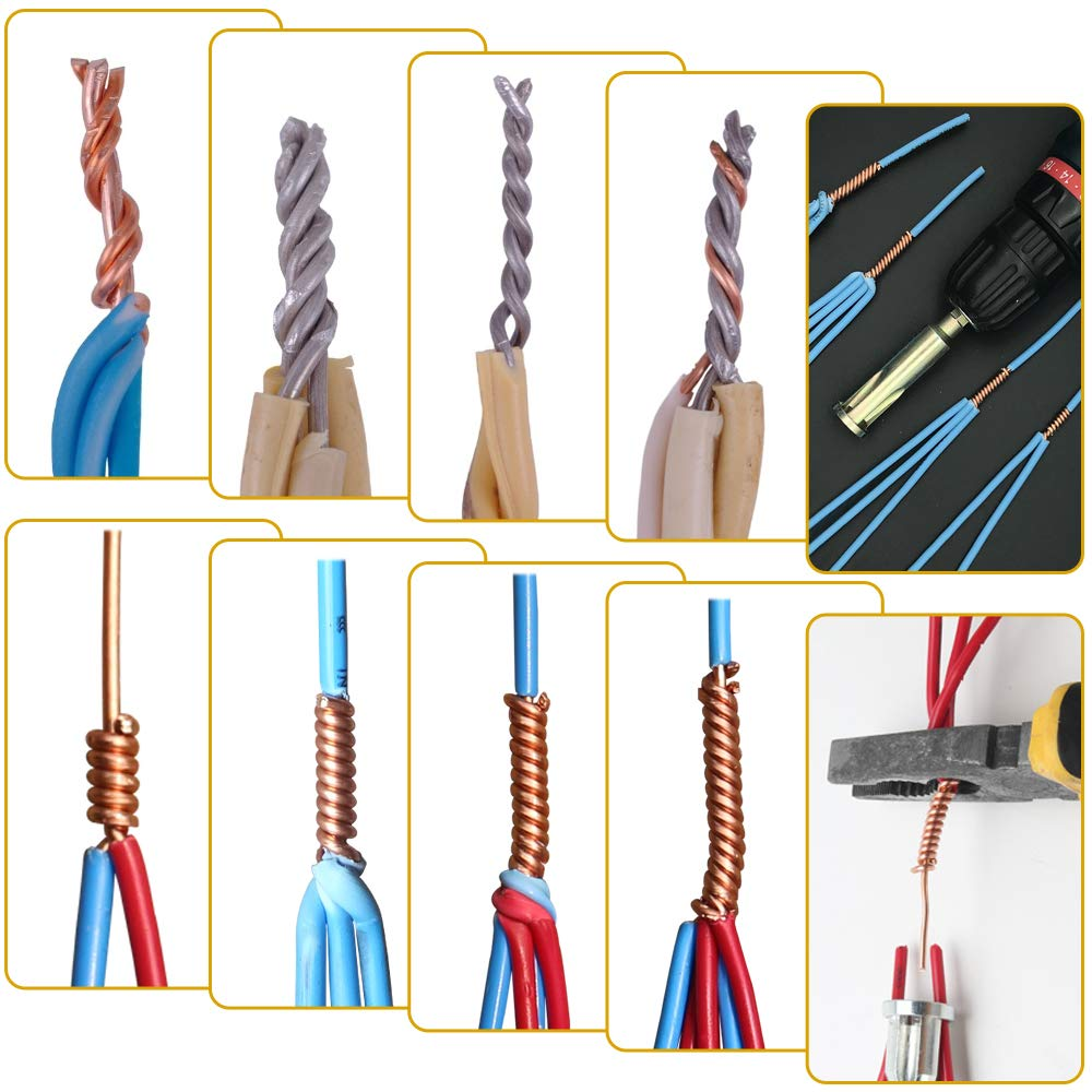 2,5//4 Piatti 3 Linee e 5 Linee Spelafili con Espansore Avvoglifili per Trapano Elettrico LYTIVAGEN 3 Pezzi Strumenti per Torsione Filo