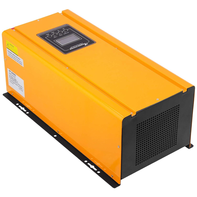 Mophorn Onduleur Durable de Puissance dInverseur dEnergie Solaire Onde Sinuso/ïdale Pure Imperm/éable de 1200W MPPT